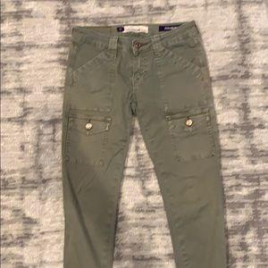 Utility/Cargo green skinny jeans